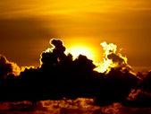 Dark sunset — Stock Photo