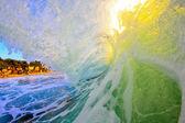 White wash sunset barrel — Stock Photo