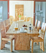 Tropical dining — Stock Photo
