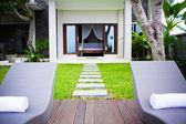 Tropical garden room — Stock Photo