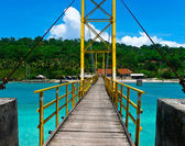 Nusa lembogan bridge — Stock Photo