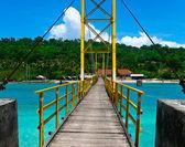 Nusa lembogan bridge — Stock Photo