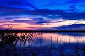 Purple sunset — Stock Photo