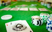 Poker table — Stock Photo