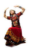 Woman posing in traditional indian costume — Stock Photo
