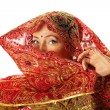 Mature woman in traditional indian costume — Stock Photo