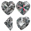 Stock Photo: Diamond heart shape isolated