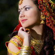 Young woman in indian dress — Stock Photo