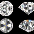 Stock Photo: Diamond set with different view isolated