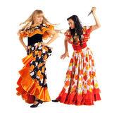 Due donna aggressiva in costume di zingara — Foto Stock