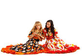 Two gypsy woman make a fortune-telling — Stock Photo