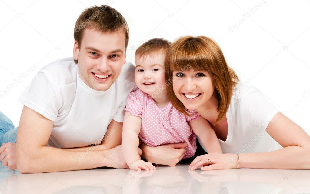 Happy Family Stock