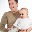 Royalty-Free Stock Photo: Happy father with a baby