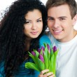 Royalty-Free Stock Photo: Couple with tulips