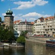 Vltava river embankment — Stock Photo