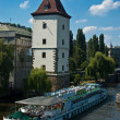 Vltava river embankment — Stockfoto
