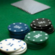 Cards and poker chips - Stock Photo