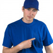 Stock Photo: Man in blue