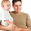 Stock Photo: Father with baby