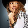 Stock Photo: Girl in cowboy hat
