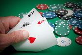 Cards and poker — Foto Stock