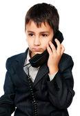 Giovane ragazzo parlando al telefono — Foto Stock
