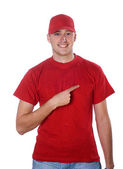 Man in red — Stock Photo
