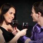 Couple drinking wine — Stock Photo #5127742
