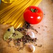 Pasta and red tomato — Stock Photo
