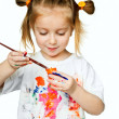 t-shirt i paint — Stockfoto