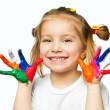 Hands in the paint — Stock Photo