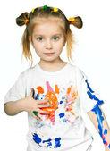 T-shirt in the paint — Foto de Stock