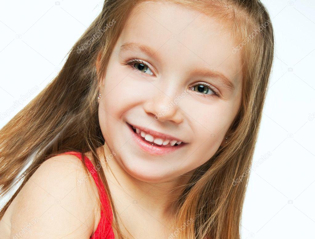 Smiling little girl — Stock Photo © GekaSkr 5358081