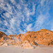 Beautiful desert landscape with stone formation and breathtaking - Stock Photo