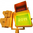 2011 positive 3d semaphore — Stock Photo