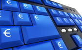 Euro keys success — Stock Photo