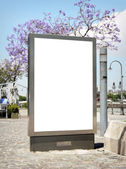 Outdoor blank billboard — Stock Photo