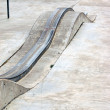 Stock Photo: Skatepark grind rail