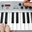 Mini midi keyboard controller — Stock Photo #4625697