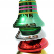 Stacked Christmas bells — Stock Photo