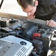 Stock Photo: MRepairing Broken Down Car