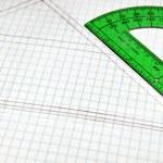 Floor Plans on grid paper — Stock Photo