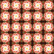 Royalty-Free Stock Photo: Abstract glowing flower seamless pattern background