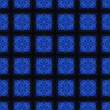 Blue Crystal Seamless Pattern Background - Stock Photo