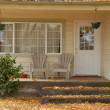 Front porch in october — Stock Photo