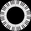Piano keys in a circle — Stock Photo