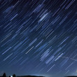 Star Trails Long Exposure At Night — Stockfoto