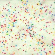 White Cake Pastry Sprinkles Texture Background — Stock Photo #4628579