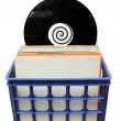 Vinyl LP Record Collection in Crate — Stock Photo #4628655
