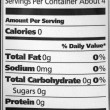 Nutrition Facts Water — Stock Photo